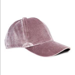 Taupe Velvet Baseball Cap